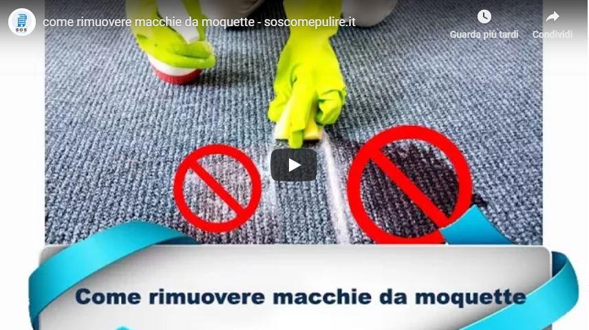 Come rimuovere macchie da moquette