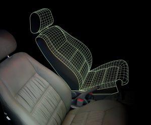Pulire i sedili dell'auto.